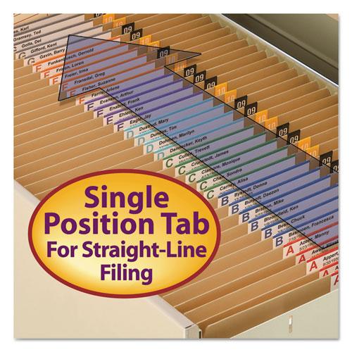 Heavyweight Kraft File Folders, Straight Tab, Letter Size, 11 pt. Kraft, 100/Box. Picture 5