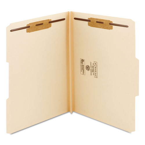 Top Tab Manila Expansion 2-Fastener Folders, 1/3-Cut Tabs, Letter Size, 50/Box. Picture 2