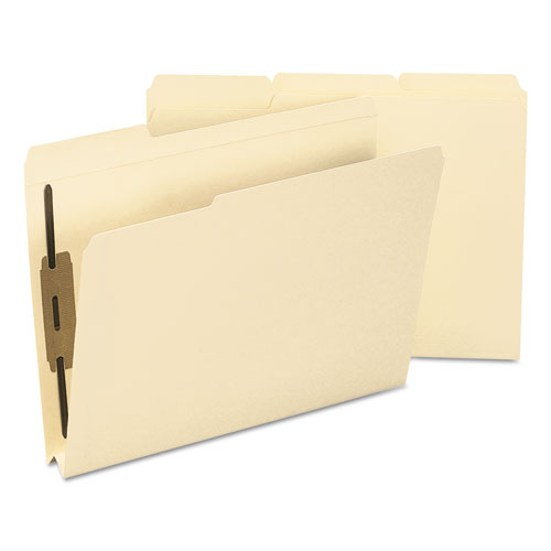 Top Tab Manila Expansion 2-Fastener Folders, 1/3-Cut Tabs, Letter Size, 50/Box. Picture 3