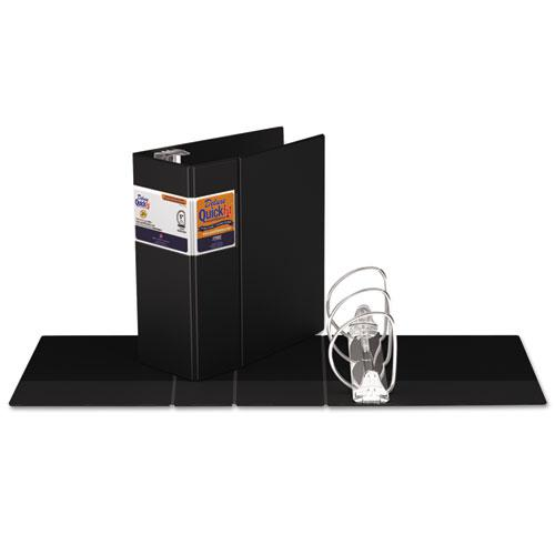 """QuickFit D-Ring Binder, 3 Rings, 5"""" Capacity, 11 x 8.5, Black. Picture 2"""
