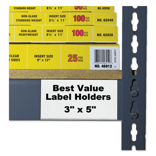 Self-Adhesive Label Holders, Top Load, 3 x 5, Clear, 50/Pack. Picture 5