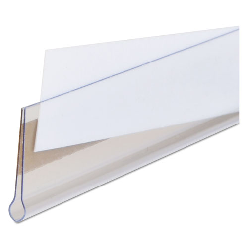 Self-Adhesive Label Holders, Top Load, 1/2 x 3, Clear, 50/Pack. Picture 3