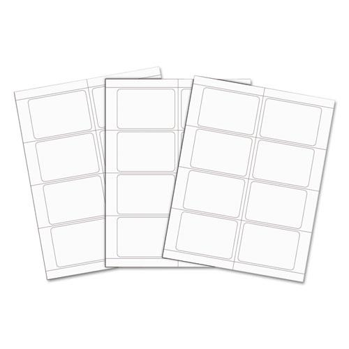 Laser Printer Name Badges, 3 3/8 x 2 1/3, White, 200/Box. Picture 4