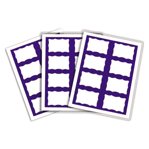 Laser Printer Name Badges, 3 3/8 x 2 1/3, White/Blue, 200/Box. Picture 3