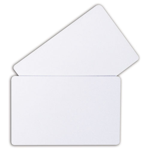 PVC ID Badge Card, 3 3/8 x 2 1/8, White, 100/Pack. Picture 4