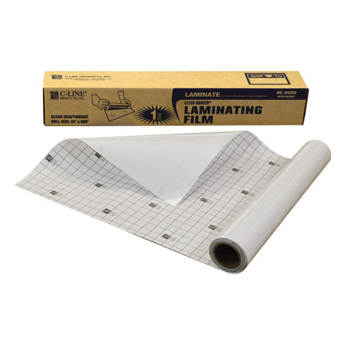 "Cleer Adheer Self-Adhesive Laminating Film, 2 mil, 24"" x 50 ft, Gloss Clear. Picture 2"