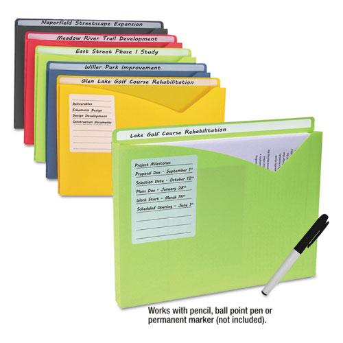 Write-On Poly File Jackets, Straight Tab, Letter Size, Assorted Colors, 25/Box. Picture 4