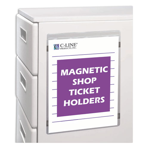 Magnetic Shop Ticket Holders, Super Heavyweight, 15 Sheets, 8 1/2 x 11, 15/BX. Picture 3