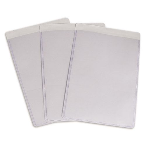 Self-Adhesive Shop Ticket Holders, Super Heavy, 25 Sheets, 5 x 8, 50/Box. Picture 3