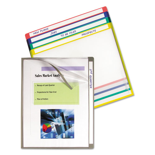 Write-On Project Folders, Straight Tab, Letter Size, Assorted Colors, 25/Box. Picture 1