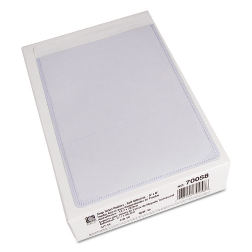 Self-Adhesive Shop Ticket Holders, Super Heavy, 25 Sheets, 5 x 8, 50/Box. Picture 4