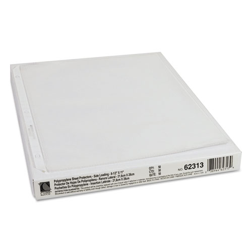 "Side Loading Polypropylene Sheet Protectors, Clear, 2"", 11 x 8 1/2, 50/BX. Picture 3"