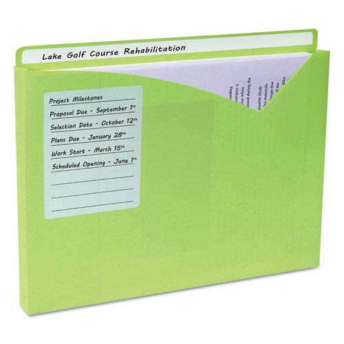 Write-On Poly File Jackets, Straight Tab, Letter Size, Assorted Colors, 25/Box. Picture 5