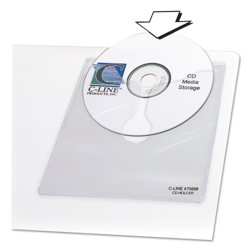 Self-Adhesive CD Holder, 5 1/3 x 5 2/3, 10/PK. Picture 2