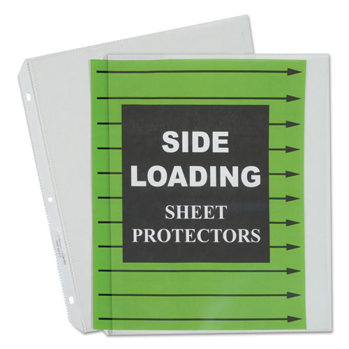 "Side Loading Polypropylene Sheet Protectors, Clear, 2"", 11 x 8 1/2, 50/BX. Picture 1"