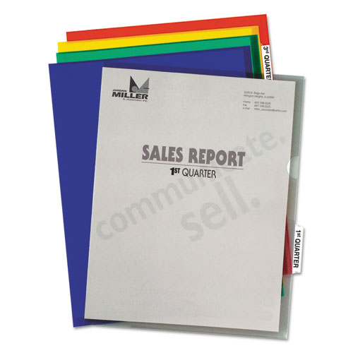 Heavyweight Project Folders with Index Tabs, 1/5-Cut Tab, Letter Size, Assorted Colors, 25/Box. Picture 5