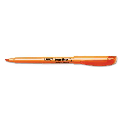 Brite Liner Highlighter, Chisel Tip, Fluorescent Orange, Dozen. Picture 2