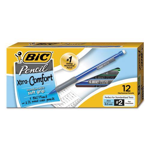 Xtra-Comfort Mechanical Pencil, 0.5 mm, HB (#2.5), Black Lead, Assorted Barrel Colors, Dozen. Picture 1