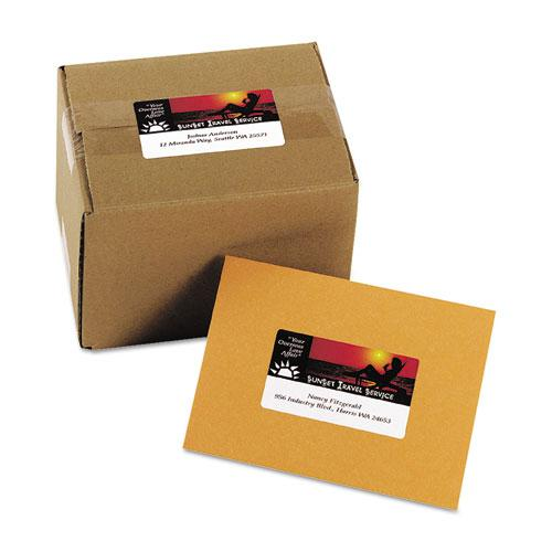 Vibrant Laser Color-Print Labels w/ Sure Feed, 2 x 3 3/4, White, 200/PK. Picture 3