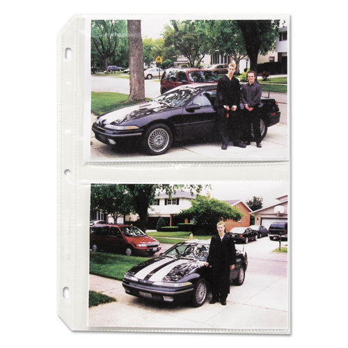 Clear Photo Pages for Four 5 x 7 Photos, 3-Hole Punched, 11-1/4 x 8-1/8. Picture 1