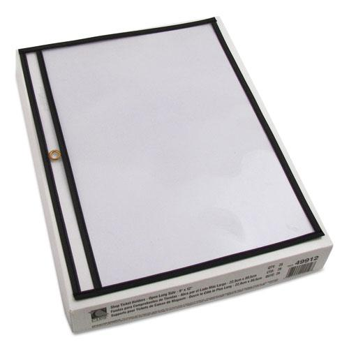 Shop Ticket Holders, Stitched, Both Sides Clear, 75 Sheets, 12 x 9, 25/Box. Picture 2