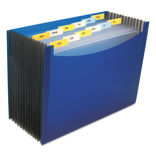 """13-Pocket Expanding File, 9.25"""" Expansion, 13 Sections, 1/13-Cut Tab, Letter Size, Blue. Picture 1"""