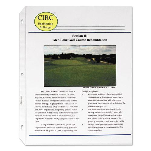 """Standard Weight Polypropylene Sheet Protectors, Non-Glare, 2"""", 11 x 8 1/2, 50/BX. Picture 2"""