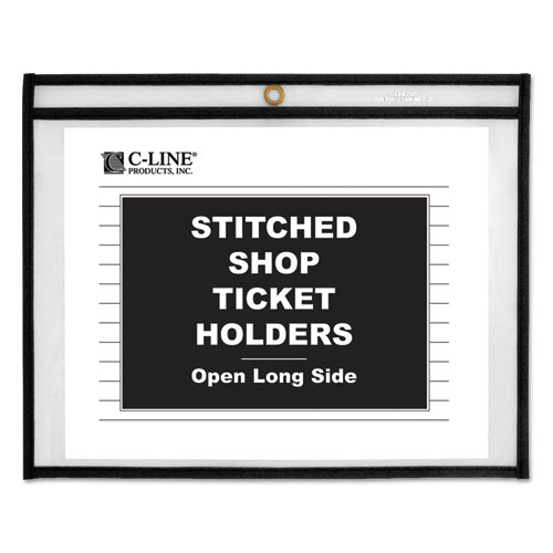 Shop Ticket Holders, Stitched, Sides Clear, 50 Sheets, 11 x 8 1/2, 25/Box. Picture 1