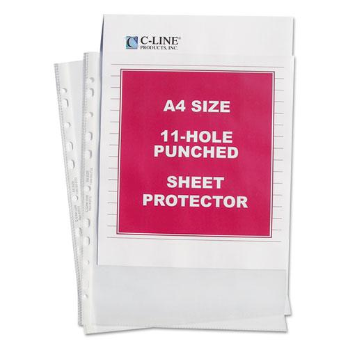 """Standard Weight Poly Sheet Protectors, Clear, 2"""", 11 3/4 x 8 1/4, 50/BX. Picture 1"""