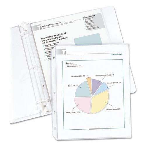 """Economy Weight Poly Sheet Protectors, Reduced Glare, 2"""", 11 x 8 1/2, 100/BX. Picture 2"""