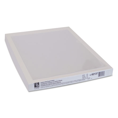 Antimicrobial Protected Poly Project Folders, Letter Size, Clear, 25/Box. Picture 3