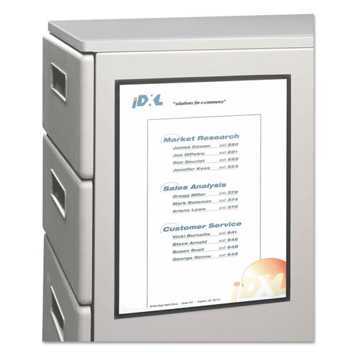 Magnetic Cubicle Keepers Display Holders, 9 13/64 x 11 11/16, Clear, 25/Pack