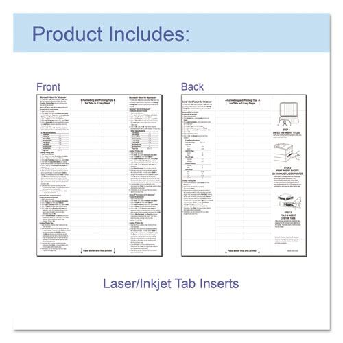 "Sheet Protectors with Index Tabs, Heavy, Clear Tabs, 2"", 11 x 8 1/2, 5/ST. Picture 4"