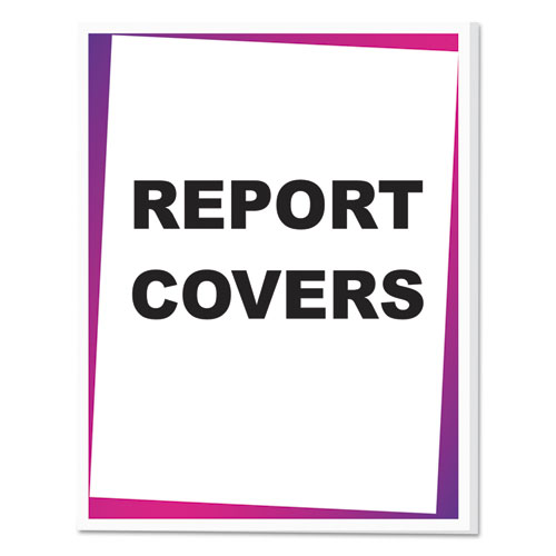 Report Covers, Economy Vinyl, Clear, 8 1/2 x 11, 100/BX. Picture 2