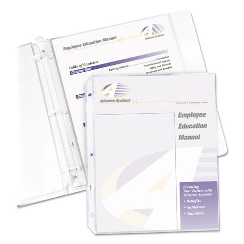 "Super Heavyweight Poly Sheet Protectors, Non-Glare, 2"", 11 x 8 1/2, 50/BX. Picture 3"