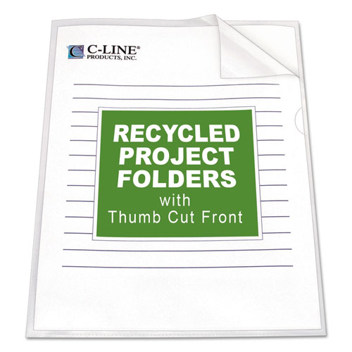 Poly Project Folders, Letter Size, Clear, 25/Box. Picture 1