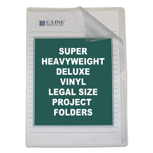 Deluxe Vinyl Project Folders, Legal Size, Clear, 50/Box. Picture 1
