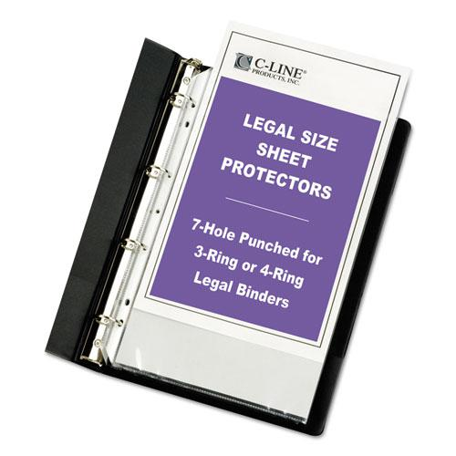 """Heavyweight Poly Sheet Protectors, Clear, 2"""", 14 x 8 1/2, 50/Box. Picture 2"""