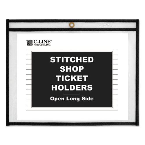 Shop Ticket Holders, Stitched, Both Sides Clear, 75 Sheets, 12 x 9, 25/Box. Picture 1