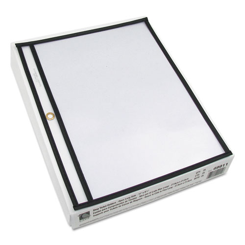 Shop Ticket Holders, Stitched, Sides Clear, 50 Sheets, 11 x 8 1/2, 25/Box. Picture 2
