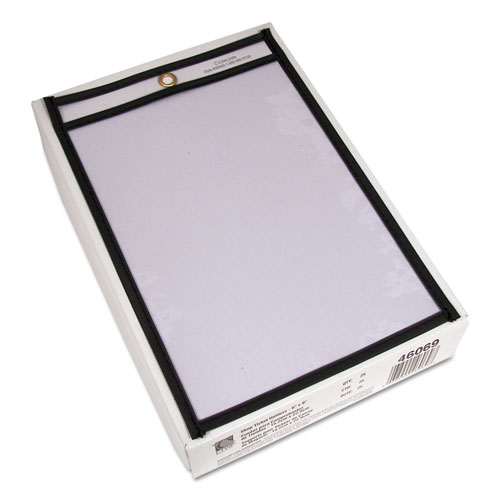 Shop Ticket Holders, Stitched, Both Sides Clear, 50 Sheets, 6 x 9, 25/Box. Picture 2