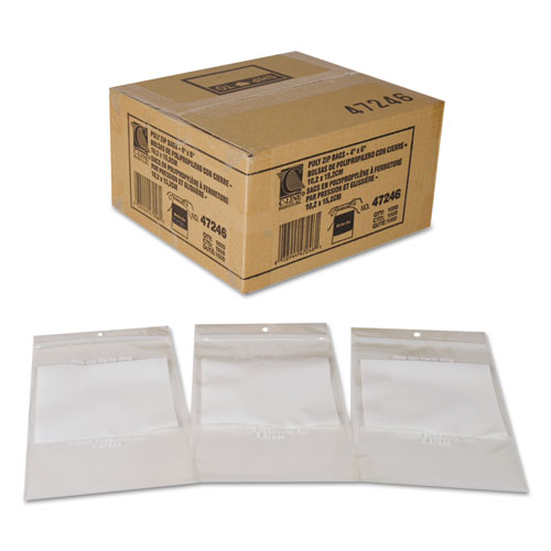 "Write-On Poly Bags, 2 mil, 4"" x 6"", Clear, 1,000/Carton. Picture 3"