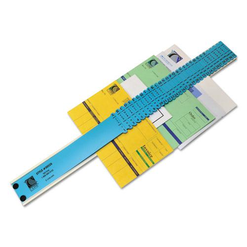Plastic Indexed Sorter, 31 Dividers, Alpha/Numeric/Months/Dates/Days, Letter-Size, Blue Frame. Picture 1