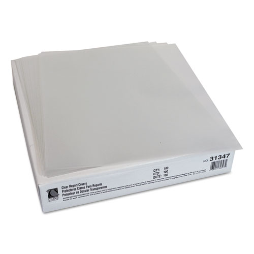 Report Covers, Economy Vinyl, Clear, 8 1/2 x 11, 100/BX. Picture 3