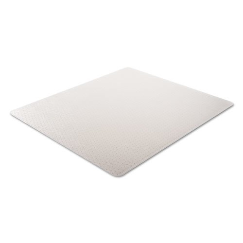 Moderate Use Studded Chair Mat for Low Pile Carpet, 46 x 60, Rectangular, Clear. Picture 2