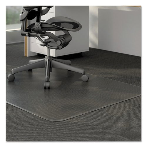 Moderate Use Studded Chair Mat for Low Pile Carpet, 46 x 60, Rectangular, Clear. Picture 1