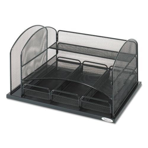 Three Drawer Organizer, Steel, 16 x 11 1/2 x 8 1/4, Black. Picture 2