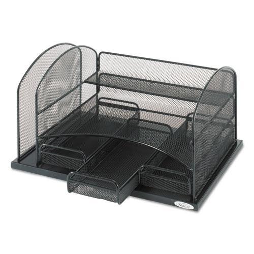 Three Drawer Organizer, Steel, 16 x 11 1/2 x 8 1/4, Black. Picture 3