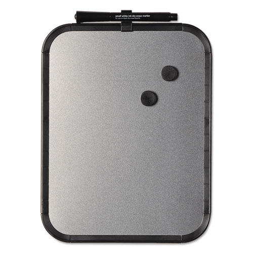 Magnetic Dry Erase Board, 11 x 14, Black Plastic Frame. Picture 1