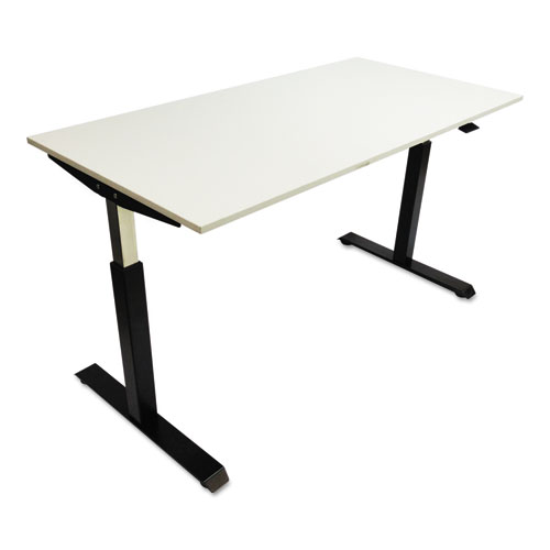 """AdaptivErgo Pneumatic Height-Adjustable Table Base, 26.18"""" to 39.57"""", Black. Picture 4"""